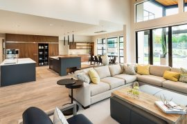 open floor plan home